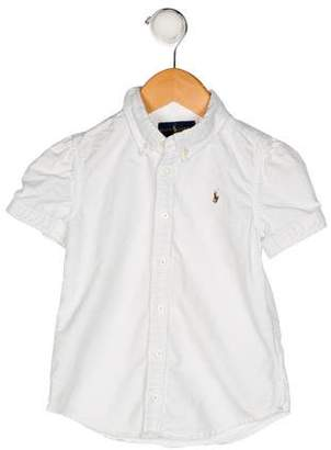 Polo Ralph Lauren Girls' Collared Button-Up Shirt