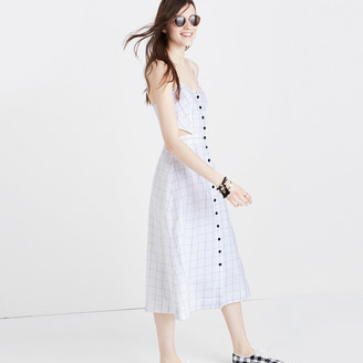 Windowpane Cutout Cami Midi Dress $138 thestylecure.com