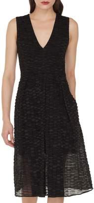 Akris Organza Ribbon Stripe Dress