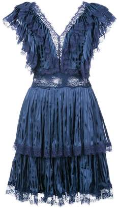 Alice + Olivia Alice+Olivia Lanora pleat tiered dress