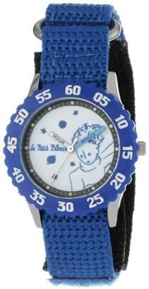 EWatchFactory Little Prince Kids' W000811 Stainless Steel Time Teacher Blue Numberals Bezel Blue Velcro Strap Watch