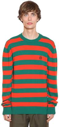 Loewe STRIPED WOOL & CASHMERE KNIT SWEATER