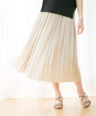 GLOBAL WORK (グローバル ワーク) - プリーツシャイニーサテンスカート