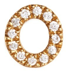 Loquet London 'O' Diamond 18k yellow gold charm - Give a Hug