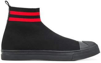 Neil Barrett sock style hi-top sneakers