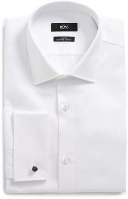 BOSS Jacques Slim Fit Solid Dress Shirt