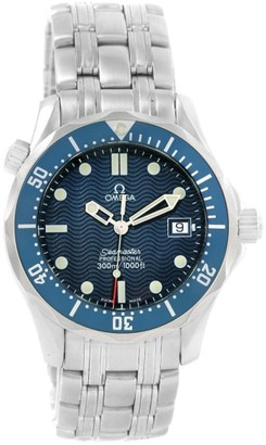 Omega Seamaster 2561.80.00 Stainless Steel & Blue Dial 36.25mm Mens Watch $2,150 thestylecure.com