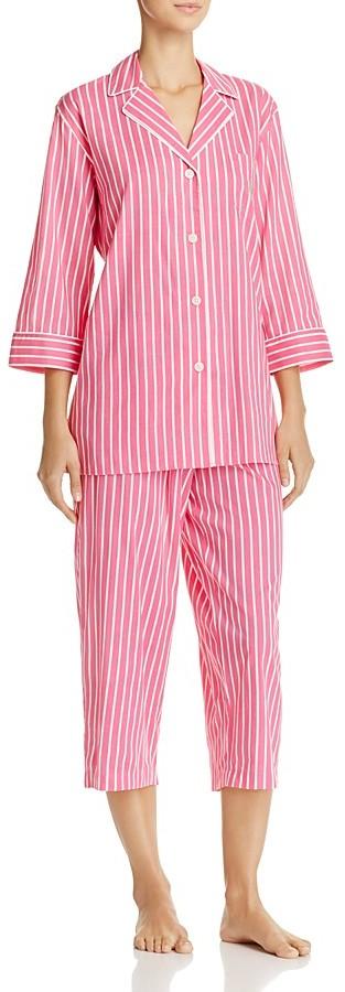 Lauren Ralph LaurenLauren Ralph Lauren Stripe Lawn Capri Pajama Set