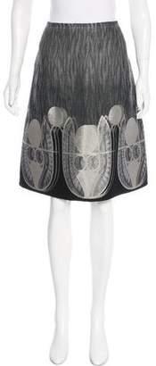 6267 Textured Knee-Length Skirt