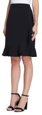 Tahari Arthur S. Levine Draped Ruffle Crepe Skirt