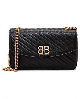 Balenciaga Gold Bb Round Bag Medium
