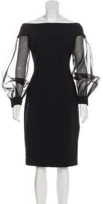Chiara Boni Off-The-Shoulder Long Sleeve Dress