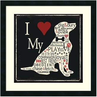 "Amanti Art ""I Love My Dog"" Framed Wall Art"
