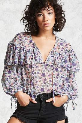 Forever 21 Floral Chiffon Top