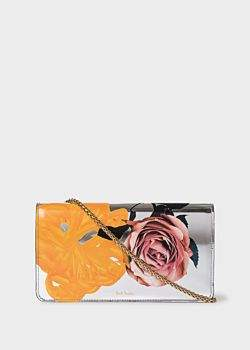 Paul Smith Women's Silver 'Rose' Leather Clutch Bag