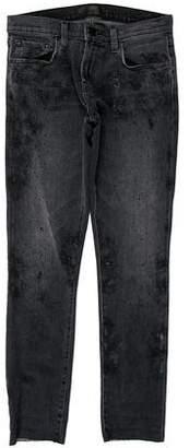 J Brand Distressed Five Pocket Skinny Jeans
