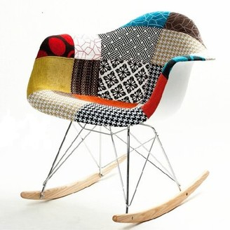 Fine Mod Imports Patterned Rocking Chair Fine Mod Imports