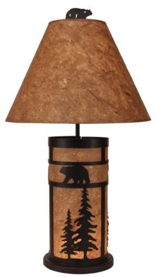 """Millwood Pines Lana Bear and Feather Tree Mission 33"""" Table Lamp Millwood Pines"""