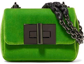 Tom Ford Natalia Mini Velvet Shoulder Bag - Bright green