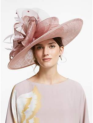 2bbc21ae4aafe Snoxells Sarah Quills and Loops Side Up Disc Occasion Hat, Rose
