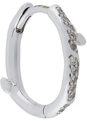Shaun Leane Cherry Branch diamond hoop earring