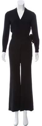 Diane von Furstenberg Wide-Leg Wrap Jumpsuit