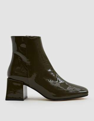 Loq Lazaro Patent Ankle Boot in Bosque