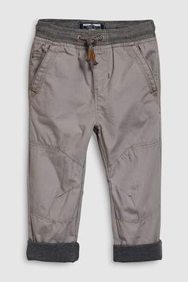 Next Boys Grey Jersey Lined Border Trousers (3mths-7yrs)