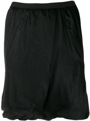 Rick Owens ruched design skirt