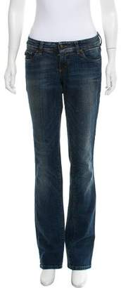 Just Cavalli Mid-Rise Straight-Leg Jeans
