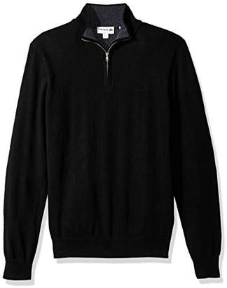 Lacoste Men's Classic 1/4 Zip Jersey Sweater
