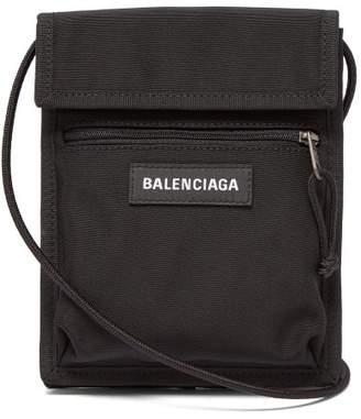 Balenciaga Explorer Logo Cross Body Bag - Mens - Black