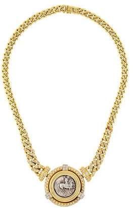 18K Diamond Coin Necklace
