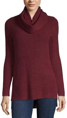 Liz Claiborne Pointelle Sweater with Infinity Scarf