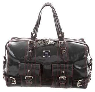 MCM Patent Leather Boston Bag