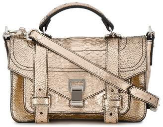 Proenza Schouler Embossed Python PS1+ Tiny