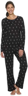 Croft & Barrow Women's Petite Knit Henley Pajama Set