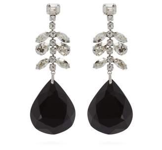 Isabel Marant Crystal Embellished Drop Earrings - Womens - Black