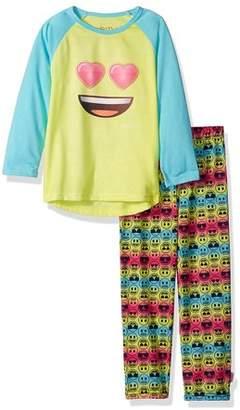 Bunz Kidz Emoji Long Sleeve Raglan Top & Pants Pajamas, 2-piece Set (Toddler Girls)