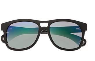 Earth Wood Las Islas Sunglasses W/Polarized Lenses - Ebony/Blue-Green
