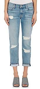 Derek Lam 10 Crosby Women's Mila Distressed Slim Boyfriend Jeans - Lt. Blue