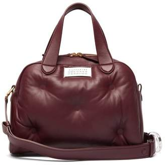 Maison Margiela Glam Slam Medium Leather Bowling Bag - Womens - Burgundy