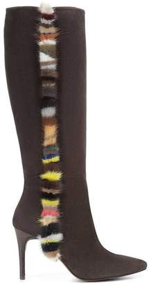 Donald J Pliner RAFELA, Kid Suede and Mink Fur Boot