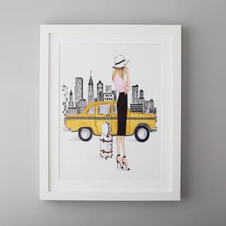 "Pottery Barn Teen New York Framed Gallery Art by Lana Leonteva, 16""x20"""