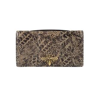 Christian Dior D-Bee Beige Exotic leathers Clutch bags