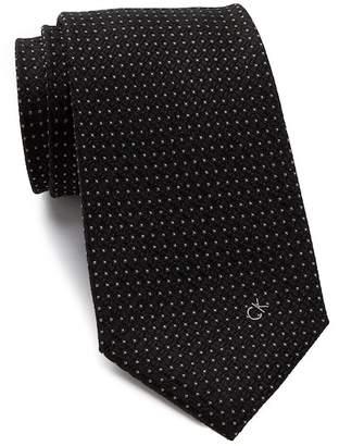 Calvin Klein Textured Silk Logo Tie