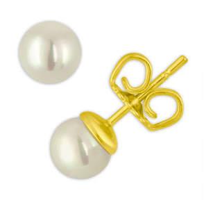 Majorica White Simulated Pearl Stud Earrings, 6mm