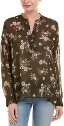Vince Floral Silk Top