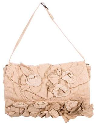 Pre Owned At Therealreal Valentino Rosette Shoulder Flap Bag