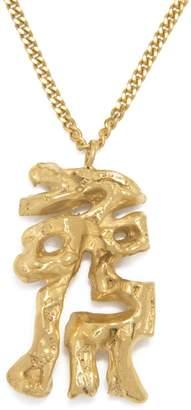 Lee Loveness Chinese Zodiac Rabbit Horoscope Gold Pendant Necklace